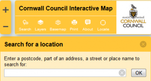 Cornwall Council Interactive Map screenshot